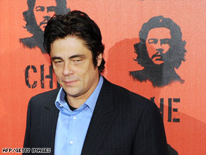 "Actor Benicio Del Toro stars in ""Che,"" which details Che Guevara's role in the 1950s Cuban revolution."