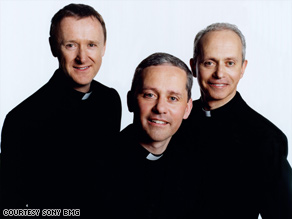 The Priests' debut CD -- part of a major record deal -- includes versions of spiritual songs and Irish tunes.