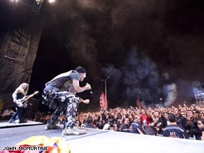 The crowd went wild when Iron Maiden took to the stage in Colombia earlier this year. They're going back in March, 2009.