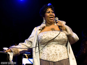Aretha Franklin was voted the No. 1 singer of all time in a Rolling Stone survey.
