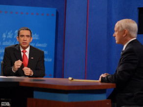 "Fred Armisen plays Barack Obama and Darrell Hammond does John McCain on ""Saturday Night Live."""