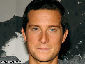 Bear Grylls is no stranger to exotic locales. In 2007, he talks to the media in Kathmandu, Nepal.