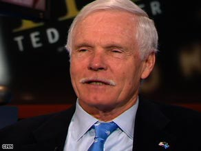 CNN founder Ted Turner tells the network he's &quot;encouraged&quot; by the results of last week's election.
