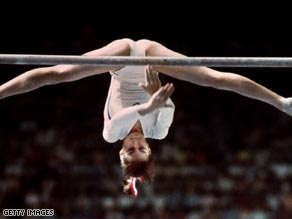 Comaneci scored seven perfect 10s in Montreal in 1976.