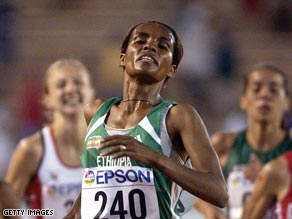 Two Olympic 10,000-meter victories have made Tulu an Ethiopian icon.