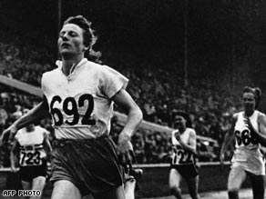 Blankers-Koen: The only woman to win four gold medals at a single Games.