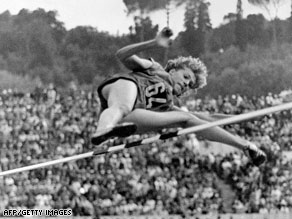 Balas cleared 1.85m to win in Rome in 1960.