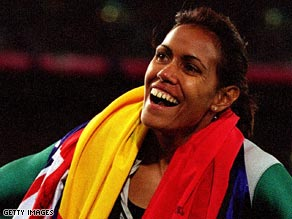 Cathy Freeman in 2000: Australia's pride lights up Sydney with a golden smile.
