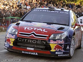 Sebastien Loeb extended his overall with two races remaining in the World Rally Championship.