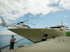 Is one enough? Roman Abramovich has one heli-pad on his yacht Pelorus, but he is rumored to be after a yacht with two.