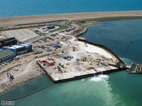 Weymouth and Portland: The 2012 Olympic venue under construction earlier this year.