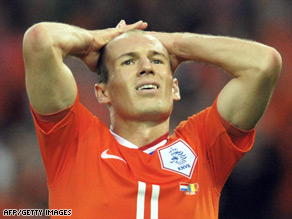 Robben missed the quarterfinal defeat because of a groin strain.