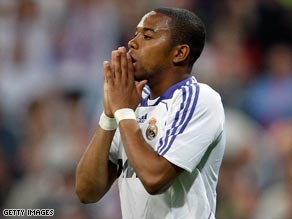 8c346e976 Robinho is hoping to continue his career with Spanish champions Real Madrid.