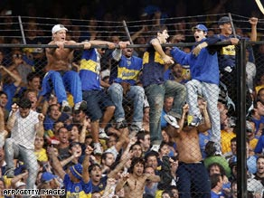 Boca Juniors fans at the Boca Juniors, River Pate derby.