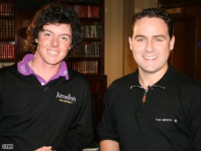 The CNN crew caught up with Rory McIlroy at the Lough Erne Golf Resort in Northern Ireland.