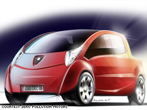The compressed air car planned for the U.S. market would be a six-seater, a New York company says.