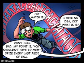 """Panel from the educational comic book """"Adventures in Synthetic Biology"""""""