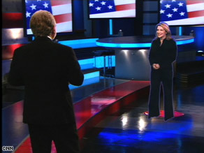 CNN's Jessica Yellin appears live as a hologram before anchor Wolf Blitzer Tuesday night in New York.