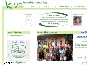 Kiva.org is connecting people through a shared goal of alleviating poverty.