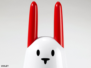 Nabaztag, an electronic device shaped like a rabbit, can read you weather forecasts from the Internet.