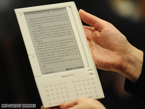 Amazon's Kindle e-reader is wireless and can hold about 200 books, plus newspapers and magazines.