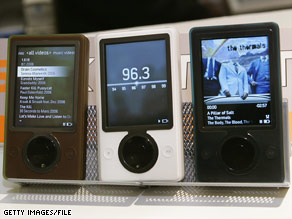 Microsoft issued the first Zune portable music player in 2006 to compete with the iPod.