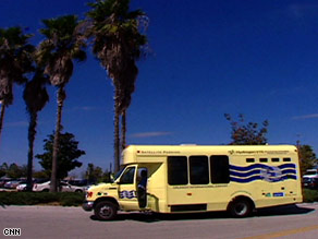 SeaWorld employees began riding on two hydrogen shuttle buses in February.