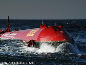 It is hoped that the Pelamis Wave Energy Converters will provide energy for 15,000 homes.