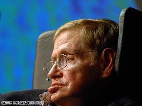 Stephen Hawking, here delivering a lecture in May, spoke recently to CNN about his vision of the future.
