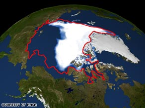 According to NASA, the Arctic sea ice minimum has reduced by 38 percent since 1979.
