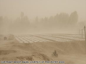 Photographer Benoit Aquin's shots of dusty Chinese landscapes earned him $86,000.