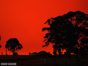 Bush fires in Australia leave high levels of black carbon in the soil for hundreds of years.
