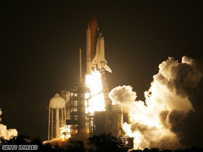 Space shuttle Endeavour lifted off at 7:55 p.m. ET on Friday, en route to the international space station.