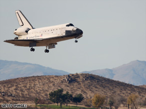 NASA opted to land the actual shuttle in California on Sunday, because associated with bad weather from Kennedy space Center.