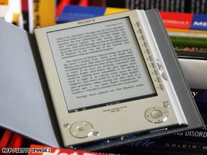 Richard Quest prefers the Sony Reader for its sophisticated design.