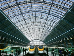 Eurostar launched services from its new London station, St Pancras International in November 2007.
