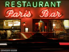 Paris Bar has long been a haunt favored by artists and celebrities.