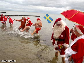 The Father Christmas Festival attracts Santas from all over the world.