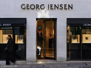 The Georg Jensen store has some exquisite silver jewelry.
