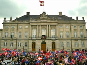 The Amalienborg palaces are the royal family's winter residence.