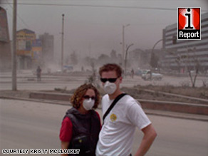 Kristy McCloskey and her husband were stuck in Ecuador after a volcanic eruption covered the town with ash.