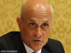 Secretary of Homeland Security Michael Chertoff, seen here in May, discussed terror watch lists Wednesday.