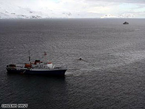 Rescuers from the Achilles took passengers to a Chilean Antarctic base.