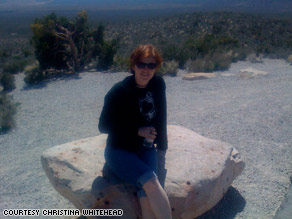 Christina Whitehead vacationed in Las Vegas, Nevada, after doing business there, saving on airfare and lodging.