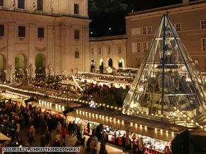 Salzburg, Austria's Christkindlmarkt is one of Europe's oldest markets.