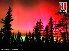 CNN iReporter Bruce Barrett shot this rare red aurora in Canada's Whitehorse, Yukon.