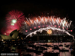 Brilliant and colorful fireworks light up Australia's Sydney Harbour Bridge last New Year's Eve.
