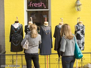Distinctive local shops and major national brands share space in Georgetown.