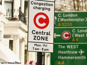 You must pay to enter London, England's congestion zone on weekdays from 7 a.m. to 6 p.m.
