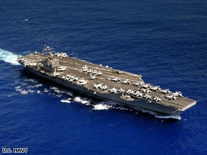 The USS Abraham Lincoln has moved from the Persian Gulf into the Gulf of Oman.